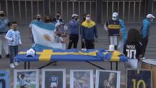 Bilbao también homenajea a Maradona
