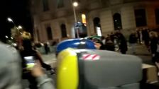 Vecinos del centro de Barcelona se encaran a manifestantes