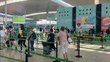 Normalidad en el Aeropuerto de Barcelona por la tarde pese a la huelga