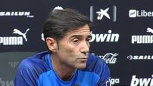 """Marcelino: """"El equipo es otro sin Rodrigo, los objetivos no serán los mismos"""""""