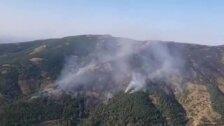 Medios aéreos intervienen en el incendio de Ávila