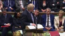 Johnson fracasa en el Parlamento en su intento por aprobar un 'brexit' por la vía de urgencia
