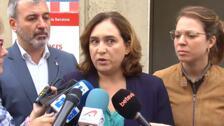Colau pide a los Mossos que no queden impunes las agresiones de anoche a independentistas