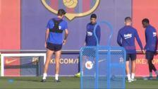 El Barça ya entrena con todos sus internacionales