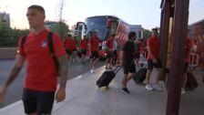 El Atlético a punto para medirse al Leganés