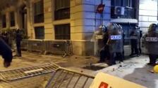 Disturbios en la concentración de los CDR en Barcelona