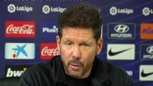 "Simeone: ""No me muevo del partido a partido"""