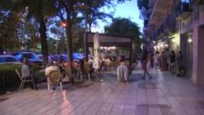 Lleno en las terrazas de la madrileña calle de Pintor Rosales