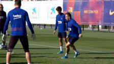 El Barça recupera efectivos en su último entrenamiento