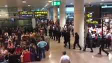 Las protestas contra la sentencia del procés colapsan El Prat