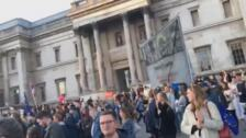 Concentración en Trafalgar Square para pedir un nuevo referéndum