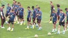 Ansu Fati completa su primer entrenamiento con la selección sub-21
