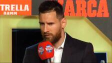 """Leo Messi recibe su sexta Bota de Oro y avisa: """"La Liga es lo más importante"""""""