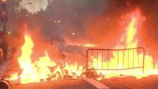 Batalla campal en Barcelona entre manifestantes y policía