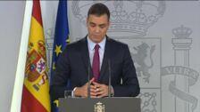 """Sánchez pide a Torra que condene """"sin excusas ni paliativos"""" el uso de la violencia en Cataluña"""