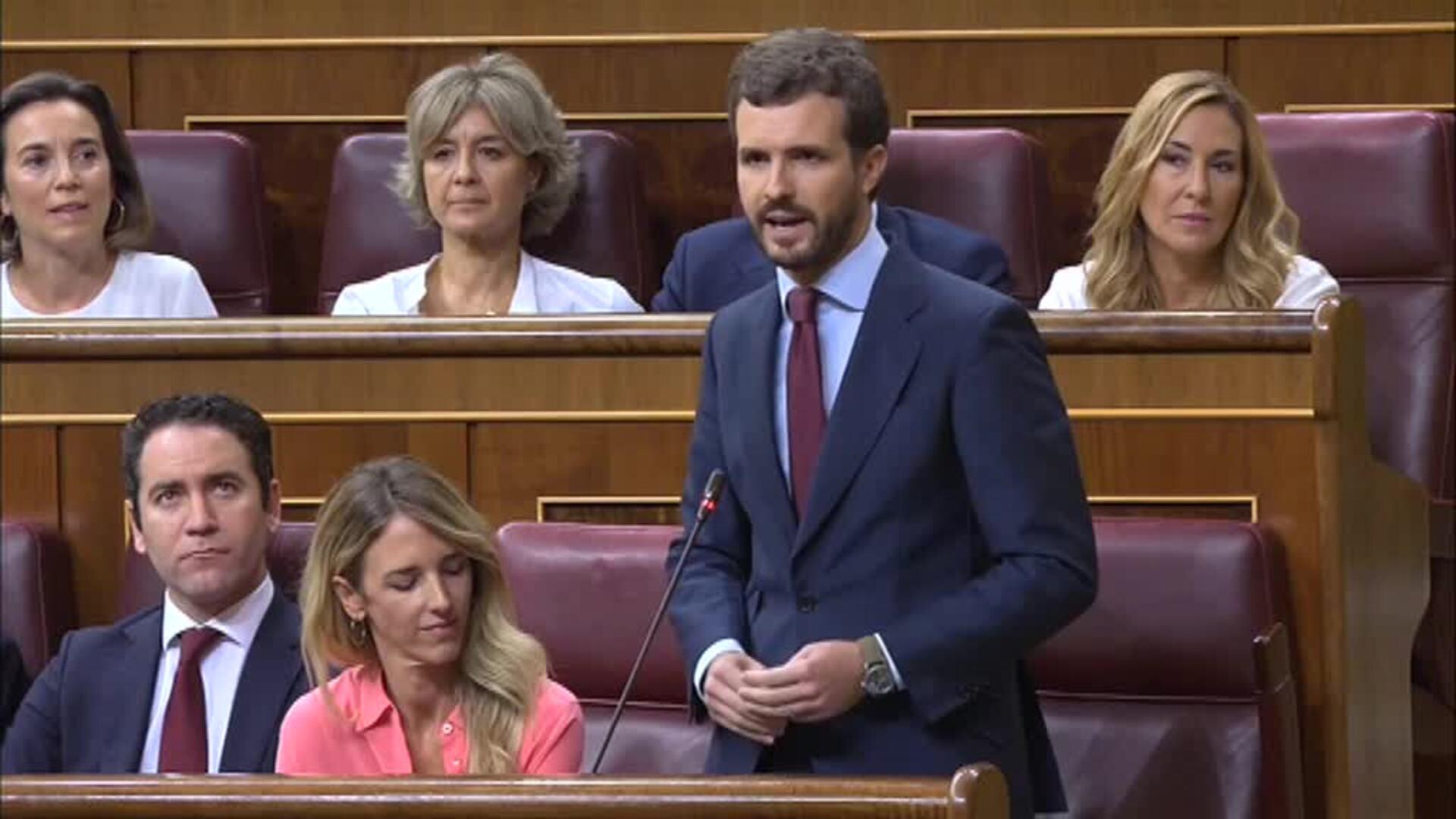 Sánchez culpa a Casado, Iglesias y Rivera de bloquear su investidura