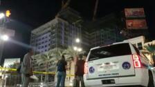 Mueren dos trabajadores al derrumbarse un Hard Rock Hotel en construcción en Nueva Orleans