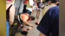 Violento enfrentamiento entre carteristas y agentes de seguridad del Metro de Barcelona