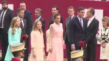 La reina deslumbra con su vestido el Día de la Fiesta Nacional