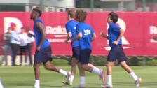 Griezmann realiza su primer entrenamiento con el Barça