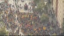 La impresionante imagen de las 'Marchas por la Libertad' entrando en Barcelona