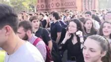 Manifestación de estudiantes en Barcelona contra la sentencia del 1-O