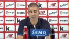 """Garitano: """"Lo importante ha sido tener paciencia ante un rival al que no se puede tirar de un golpe"""""""