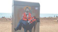 El grafitero TVboy plasma la labor de Open Arms como 'La piedad de San Oscar'