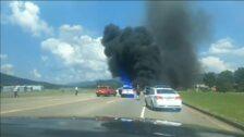 Se estrella en una autopista en Tennessee la avioneta en la que viajaba un ex piloto de automovilismo