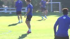 El Athletic entrena para preparar su partido contra el Mallorca