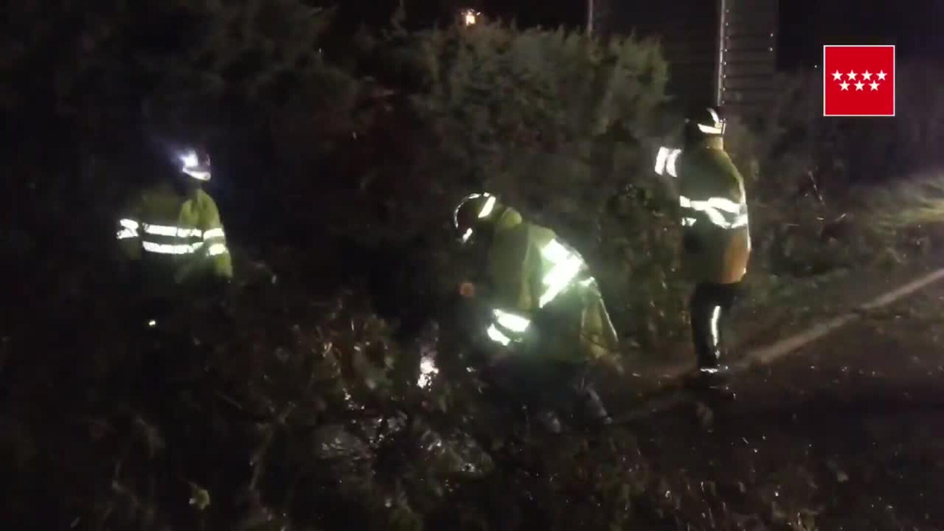 112 Comunidad de Madrid gestiona 130 incidencias por la tormenta