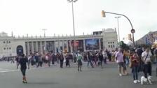 Una protesta en Barcelona-Sants se convierte en una marcha hacia la plaza Espanya