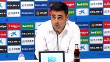 """David Gallego, """"muy contento"""" con el partido del Espanyol"""