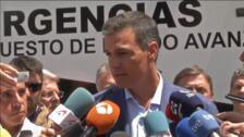 Sánchez lleva a Gran Canaria el compromiso del Gobierno con los afectados por el incendio