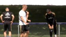 El Real Madrid se entrena sin Zidane