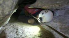 El rescate de los espeleólogos portugueses atrapados en la cueva Cueto-Coventosa de Arredondo