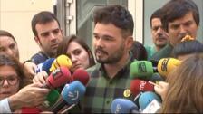 """Rufián apremia a PSOE y a Unidas Podemos a negociar y asumir su """"responsabilidad histórica"""""""