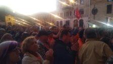 Concentración en apoyo a trabajadores de Vesuvius encerrados