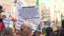 Una manifestación reclama blindar las pensiones en la CE