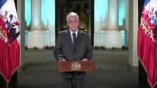 Piñera condena las violaciones de los DDHH durante las protestas