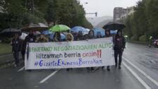 Retenciones por la manifestación de la educación concertada en Bilbao