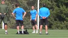 Pinto visita a sus ex compañeros en Montecastillo