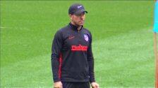 El Atlético de Madrid acude a entrenar