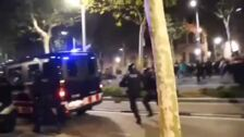 Disturbios en Barcelona