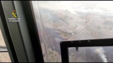 La erupción del volcán de La Palma desde el cielo