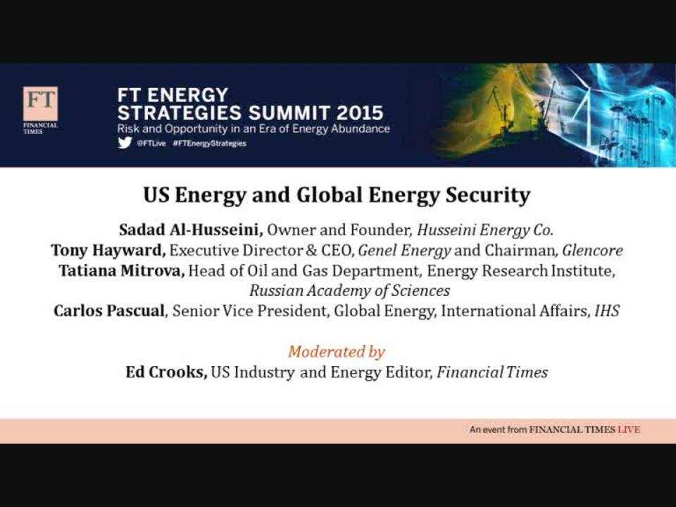 FT Energy Strategies Summit organised by FT Live