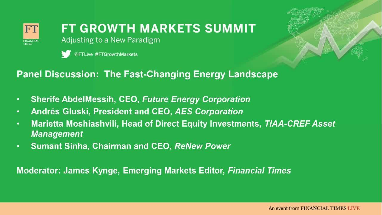 FT Growth Markets Summit organised by FT Live