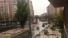 La nieve sorprende a Vitoria
