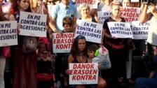 Cientos de personas muestran su repulsa por las agresiones machistas en un acto convocado por Bilboko Konpartsak
