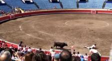 Susto en el show de recortadores de Bilbao